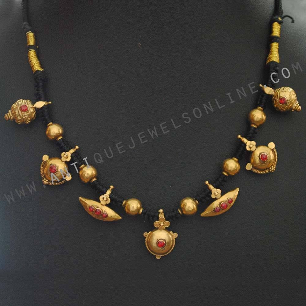Antique necklace total weight gramswith thread sangeeta