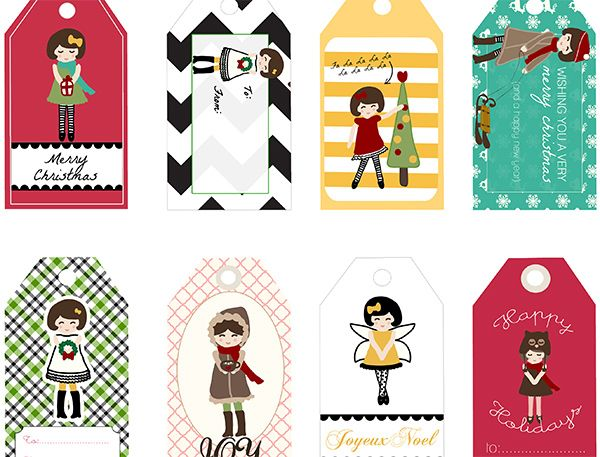 Free Printables - 8 Holiday Angel Gift Tags for Crafts or Gifts ...