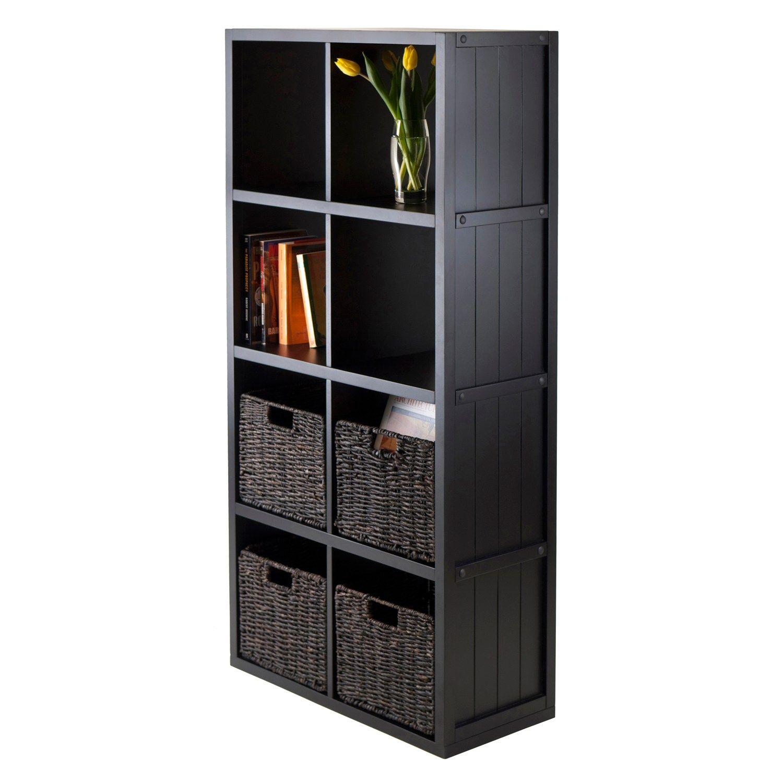 Winsome Timothy 5 Piece 8 Cube Storage Shelf & Basket Set