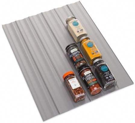 YouCopia SpiceLiner Spice Drawer Liner 10ft Roll Gray #kitchenorganizer