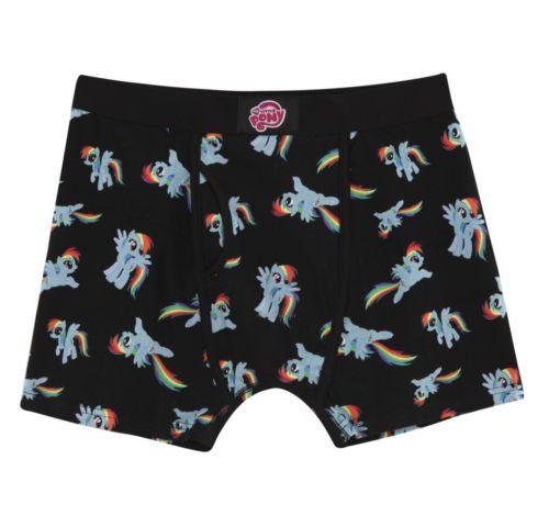 big sale d4a61 ae604 New My Little Pony Brony Rainbow Dash Allover Men s Boxer Briefs Underwear  M L   eBay