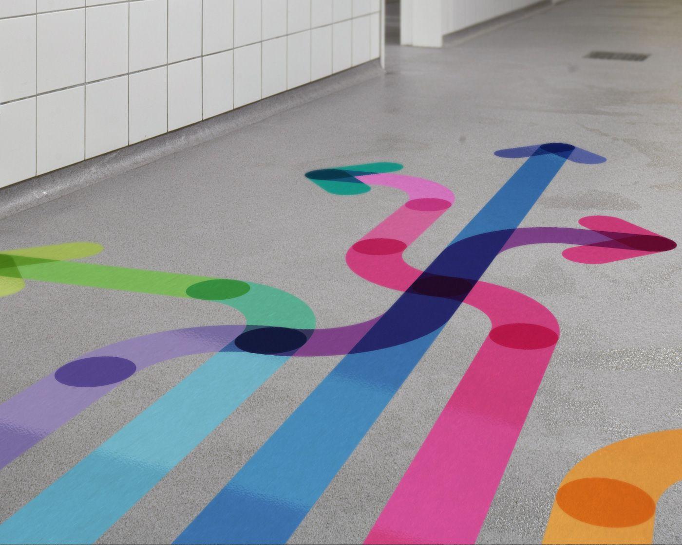 Floor Sticker Printing Retail Branding Amp Way Finding