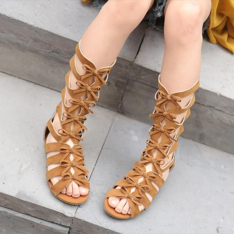 2019 Handmade Kids Girls Sandals Childrens Roman Gladiator Sandals Summer Flats