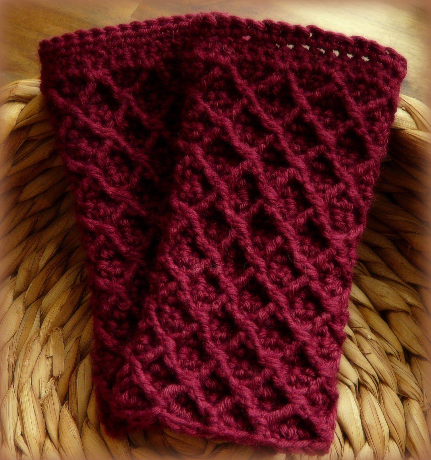 Gehäkelte Pulswärmer - Crocheted Mitts http://www.crochet-owl.com ...