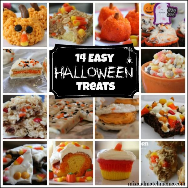 14 Easy Halloween Treats Kids Will Love These