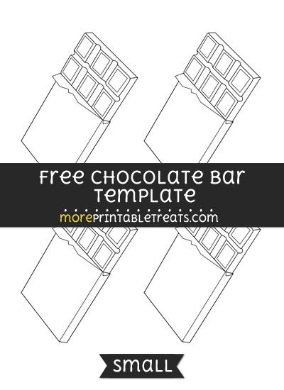 Free Chocolate Bar Template - Small | Shapes and Templates ...