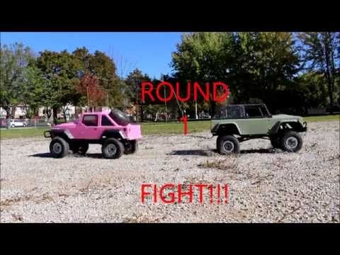 Rc Mc Jeep Rubicon Vs Land Rover In A Truck Challenge With