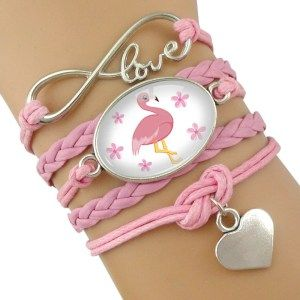 Photo of Women's Pink Flamingo Design Layered Bracelet – Just Pink About It