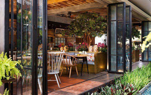 modern restaurant decor ideas lemongrass indonesia indoor outdoor