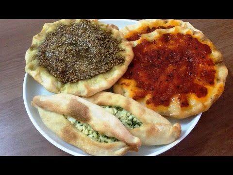 طريقة عمل مناقيش الزعتر والمحمرة وفطاير الجبنة Youtube Savoury Baking Food Arabic Food