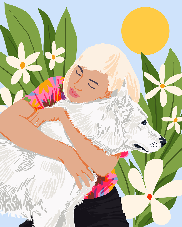All You Need Is Love And A Dog Illustrations Illustrationartists Etsyshop Illustrators Artprin Dog Illustration Art Art Illustration Wall Art