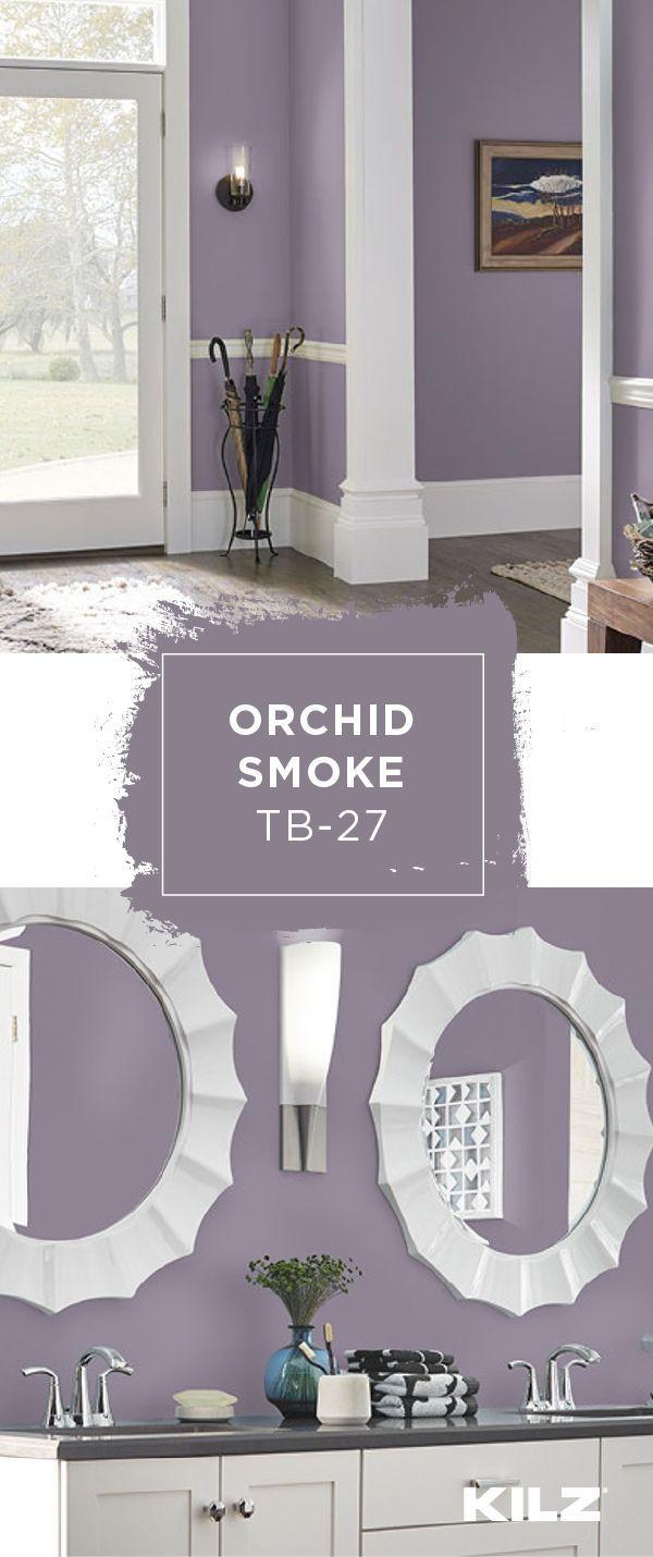 Wie werden Sie KILZ Tribute Paint & Primer in Orchid Smoke in der Innenausstattung Ihres Hauses einsetzen? Dieser violette Farbton hat einen grauen und violetten Unterton, was ihn zu einem klassischen Farbakzent für eine Reihe von Dekorstilen macht. Verwenden Sie neutrale weiße Akzente und helle Holzmöbel, um diesen Look in Ihrem eigenen Haus nachzubilden. - #Akzente #amp #Dekorstilen #der #diesen #dieser #eigenen #eine #einem #einen #einsetzen #Farbakzent #Farbton #für #grauen #hat #Haus #Haus #whitebathroompaint