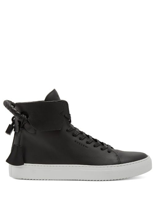 9deaca457e2620 BUSCEMI 100Mm Weave Leather High-Top Trainers.  buscemi  shoes  sneakers