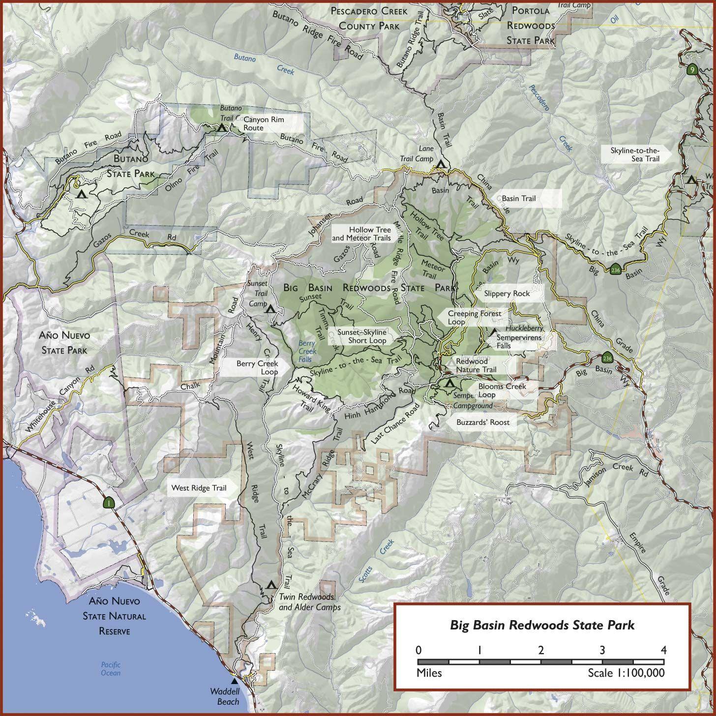 Big Basin Redwoods State Park Hiking Guide | Rice-A-Roni | Big basin ...