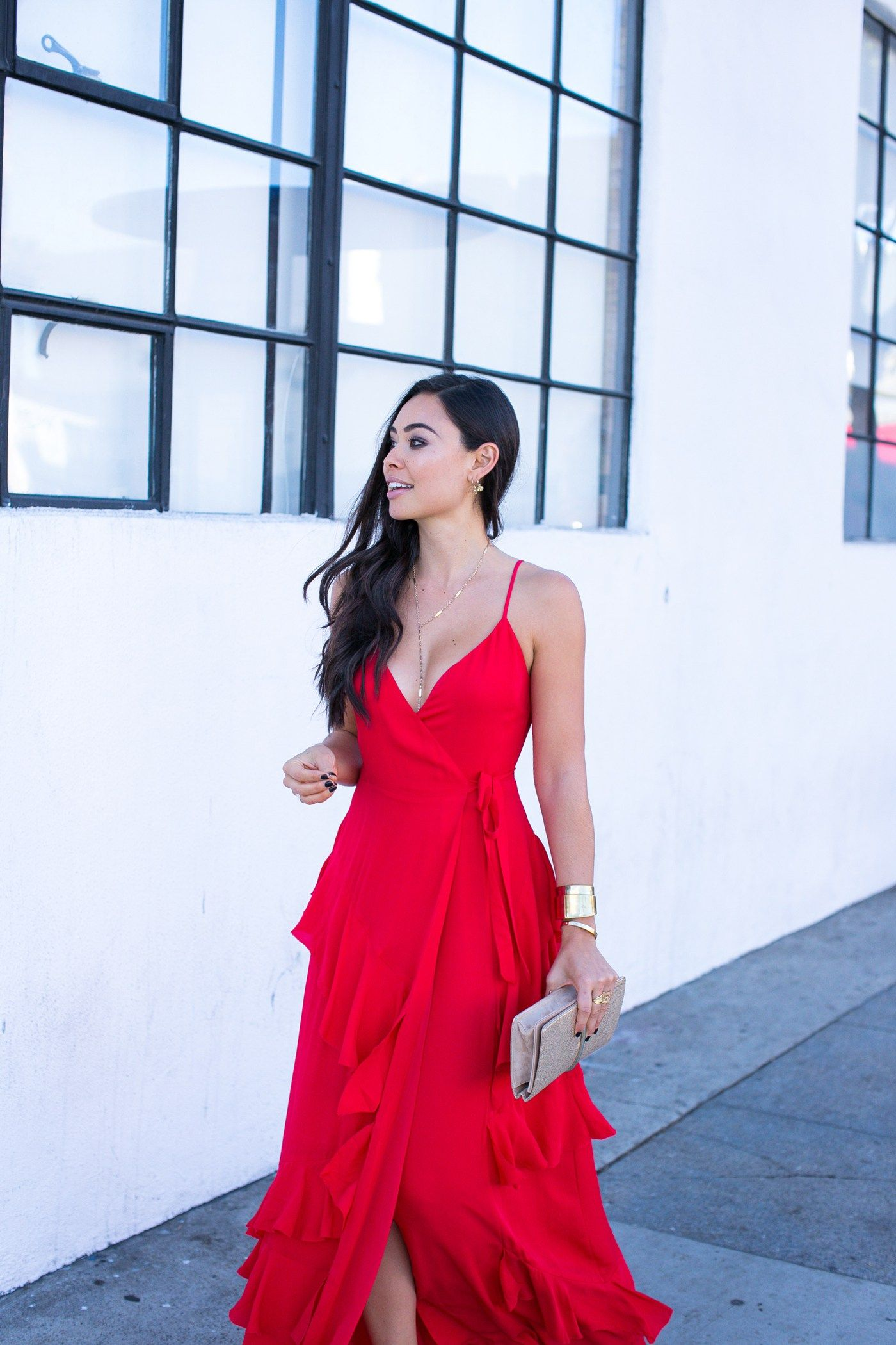 Stunning Red Dress for Wedding Guests | Rehearsal dinner ...