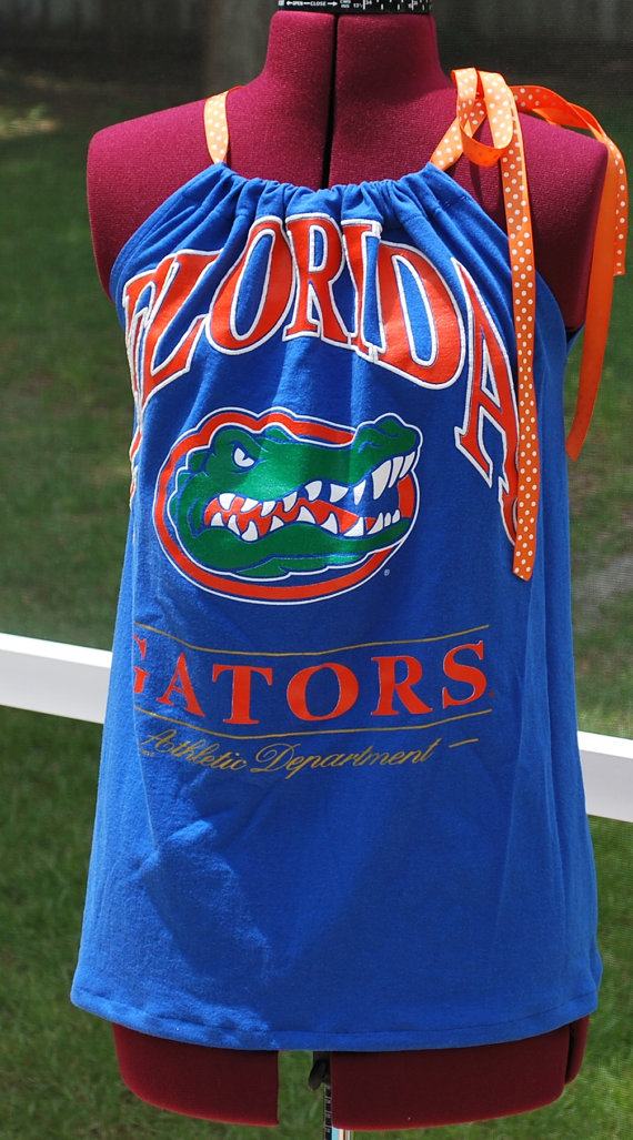 University Of Florida Gator Pillow Case Shirt Great For Day