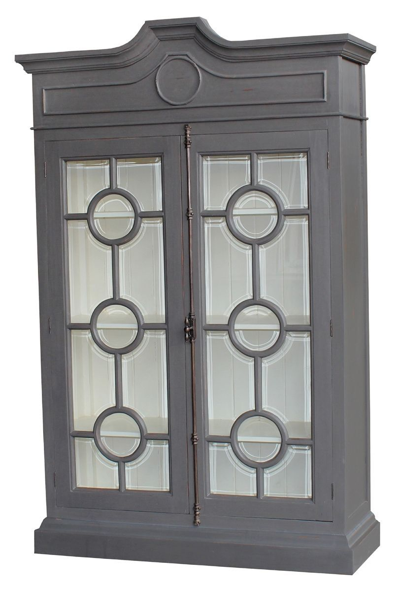 Master Bathroom Storage ~ Sedgwick Glass Cabinet - Gray (we orded ours with Gray color inside as well) - from IO Metro (takes about 6-8 to be made, but worth the wait!)