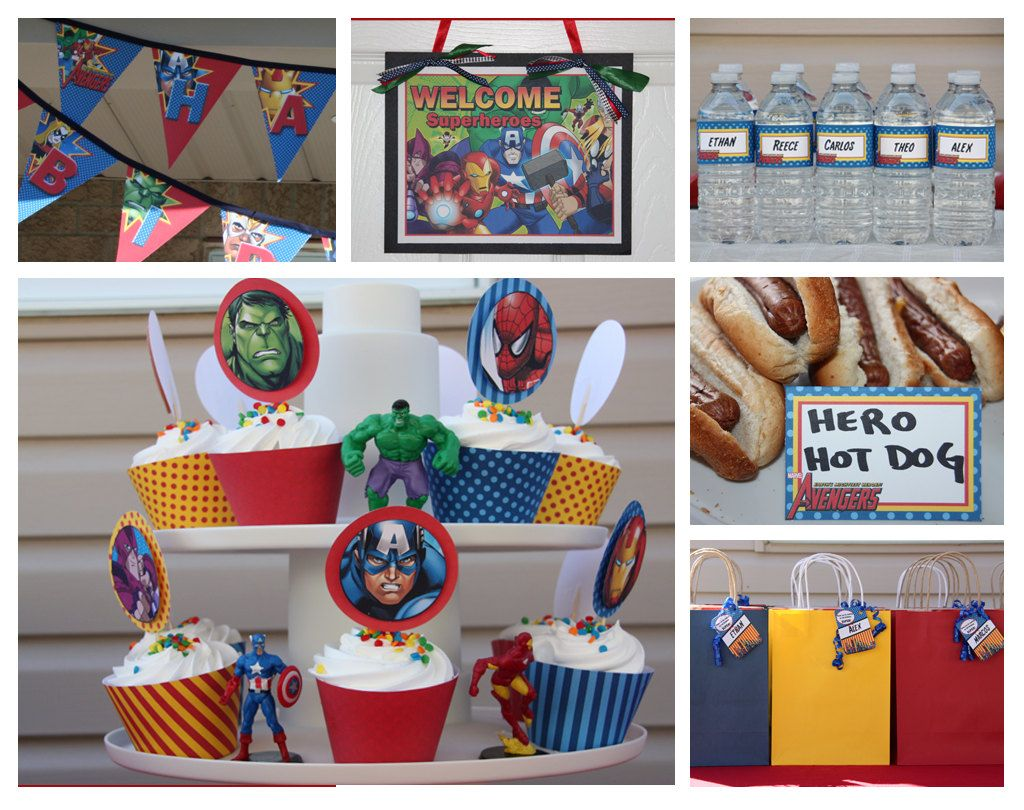 Avengers Party Decorations Avenger Party Birthday Avengers Inspired Diy Customized
