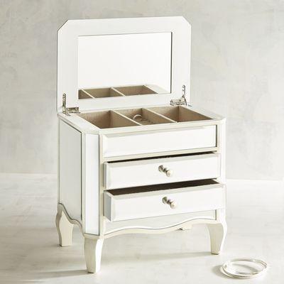 Mirrored Ivory Jewelry Box On Legs Pier 1 Imports Jewelry Box