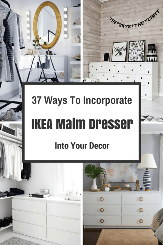 37 ways to incorporate ikea malm dresser into your d cor interiors pinterest kommode diy. Black Bedroom Furniture Sets. Home Design Ideas