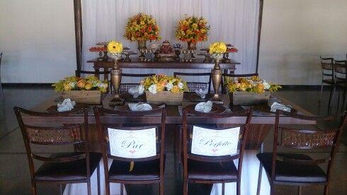 Casamento Montagem mesa de   doces