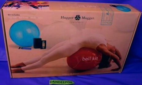 Hugger Mugger Yoga Ball Video And Block Fitness Health Care Set In Box | eBay #huggermugger #yoga #y...