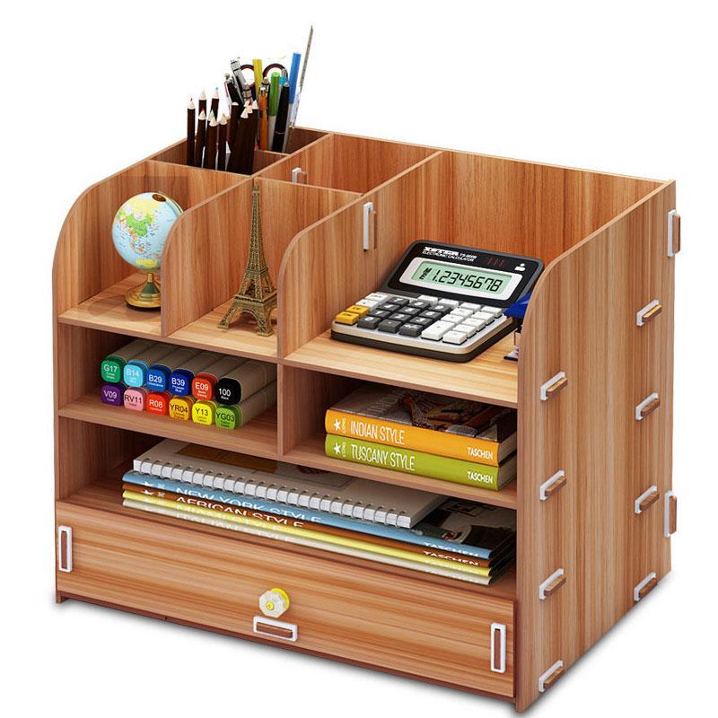 Diy Desktop Storage Box Large Capacity Multi Layer Drawer File