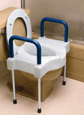 Awesome Extra Wide Tall Ette Elevated Toilet Seat With Arms And Cjindustries Chair Design For Home Cjindustriesco