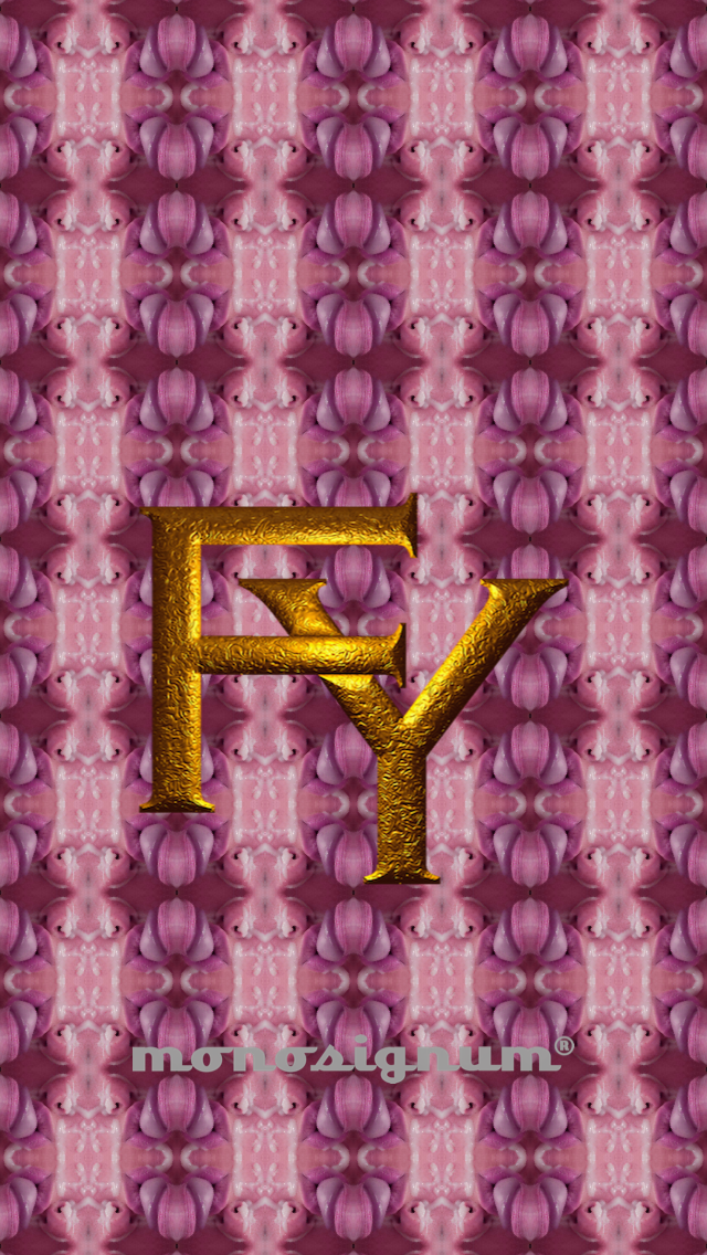 @monosignum is proudly to #present your #FY_01 #monogram as a #wallpaper for your #iPHONE #5 for #free