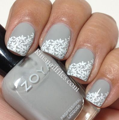 Zoya Dove with Stamping | Nails, Nail polish tattoo, Nail ...