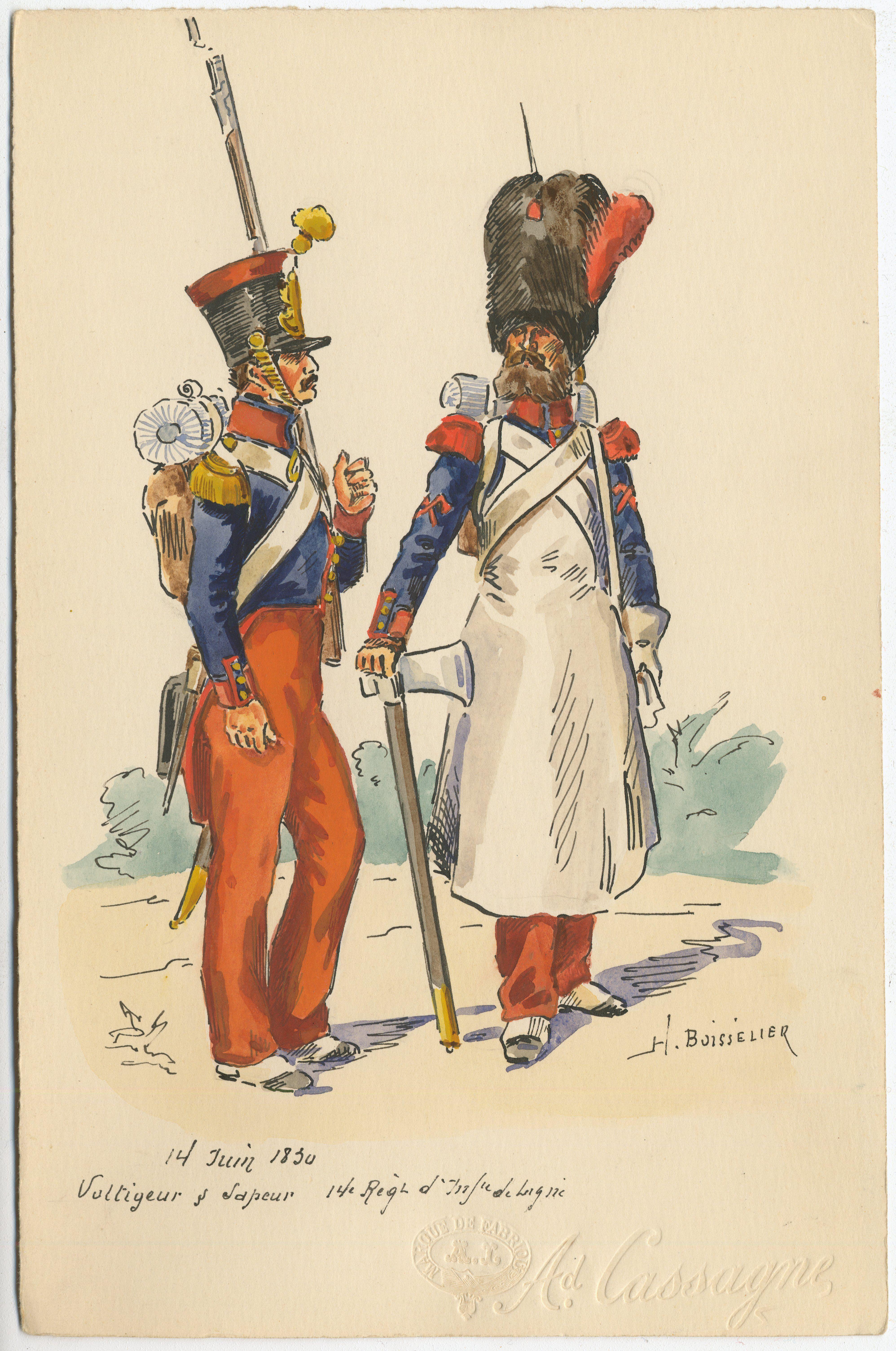 French;Officiers en grande tenue.Régiment étranger de cavalerie ...