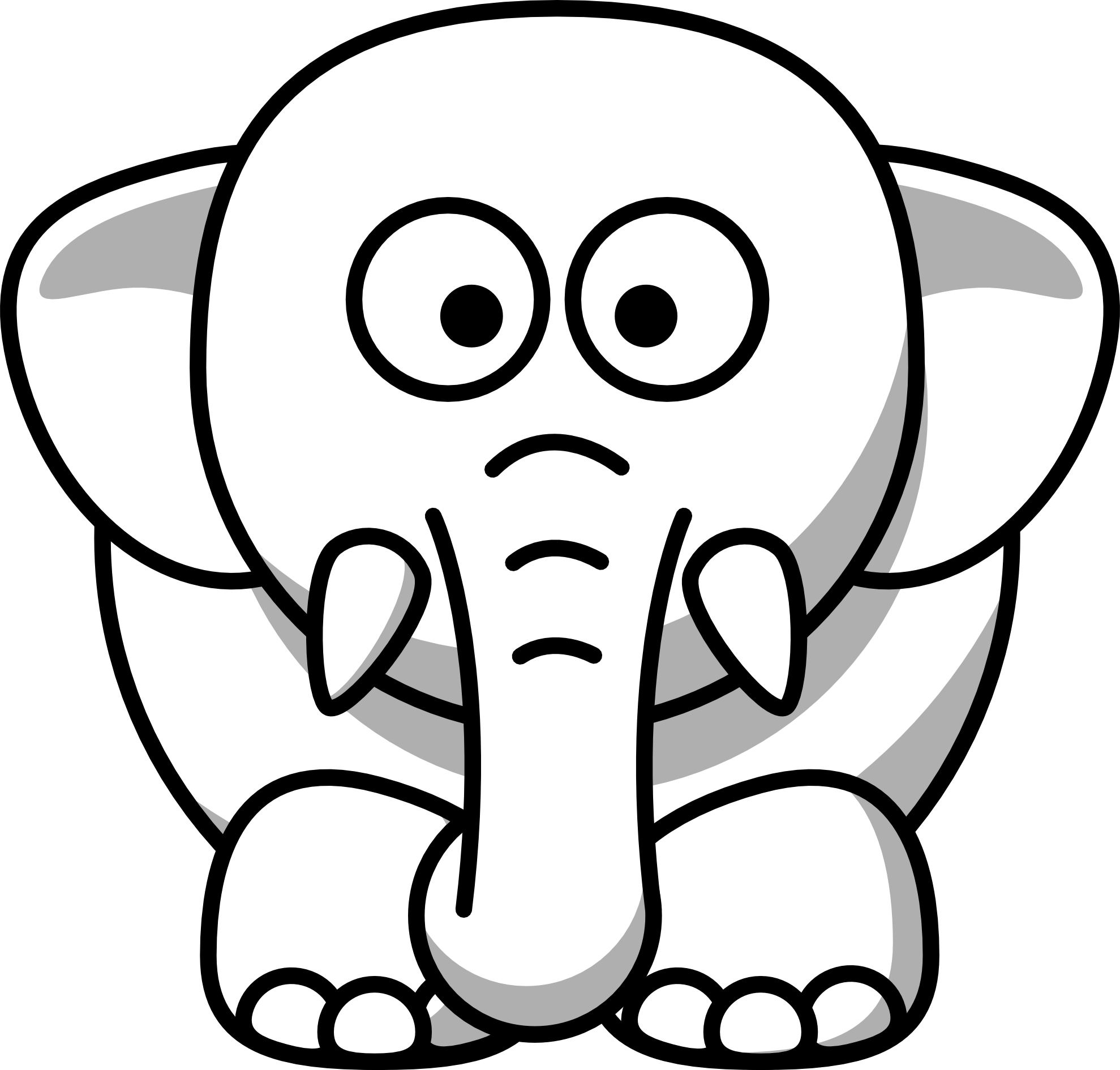 Animal Clip Art White Line Art Christmas Xmas Stuffed Animal Art Christmas Clip Art Cartoon Elephant Elephant Clip Art Cute Cartoon Animals