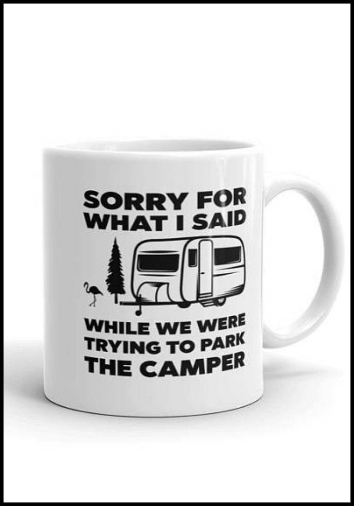 Hahaha...this camper parking mug is so true!  #glamping #rv #funny #affiliate