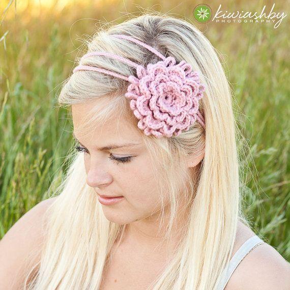 Crochet pattern 3 flower chain headband chain headband crochet crochet pattern 3 flower chain headband mightylinksfo Choice Image