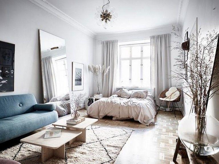 13 Best Minimalist And Simple One Room Apartment Ideas Apartmentdecor Apartmentliving Apartme Studio Apartment Decorating Apartment Interior Apartment Room