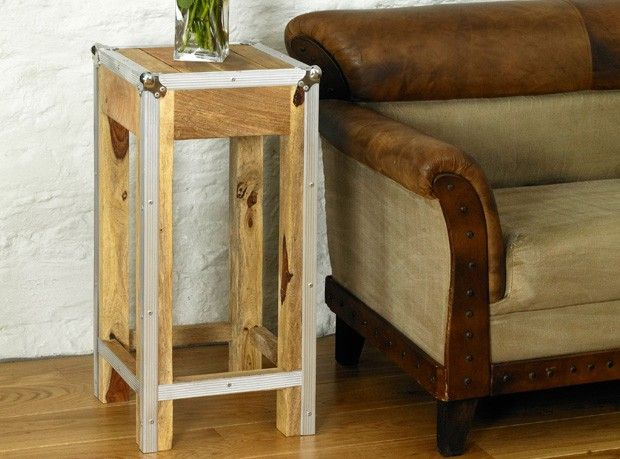 Boston Chic Tall Lamp Table / Stool   Http://www.solidoakfurniture.