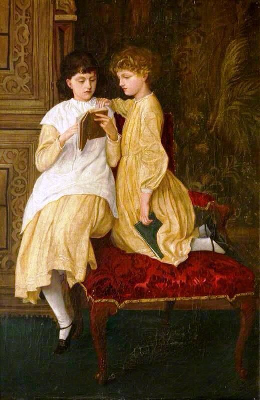 Jenny & May Morris, 1870 by George Howard