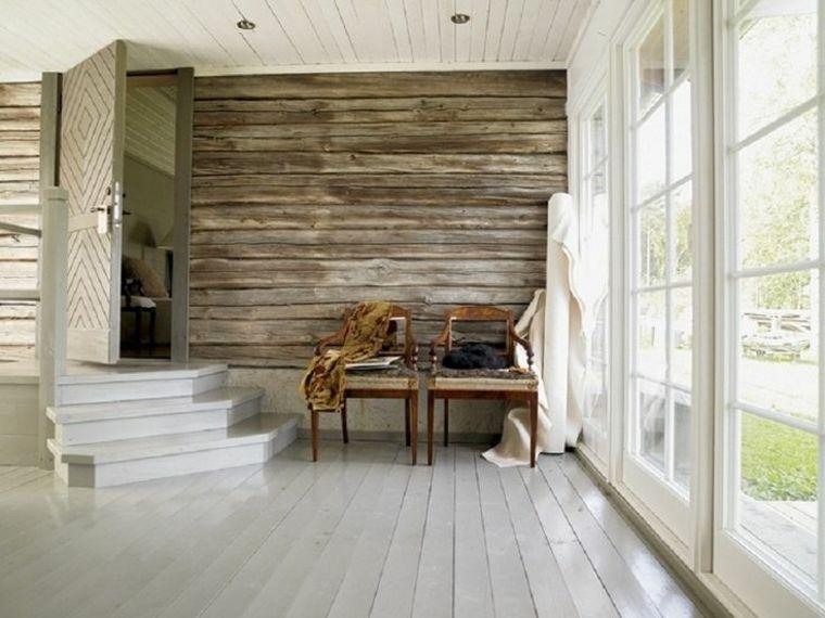 Revestimiento de paredes interiores con madera - 34 ideas -