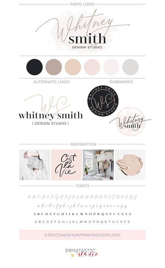 Branding Package Brand Identity Logo Design Inspiration Modern Neutral Mood Board