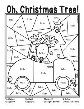 Addition And Subtraction Christmas Math Coloring Sheets Christmas Math Maths Colouring Sheets Math Coloring