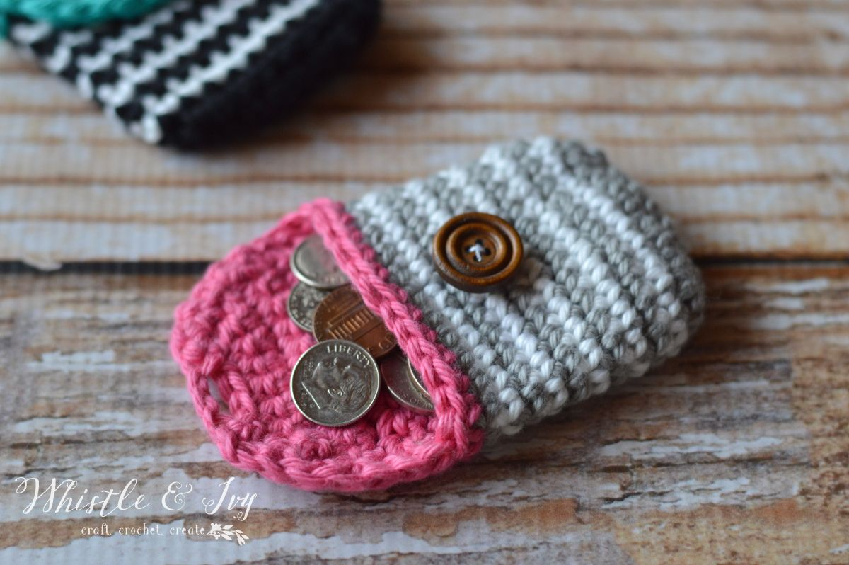 Crochet Striped Coin Purse | Häkeln