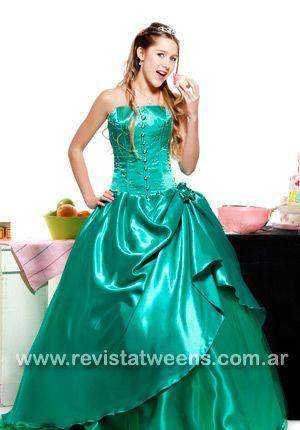 Vestidos de quinceanera color verde
