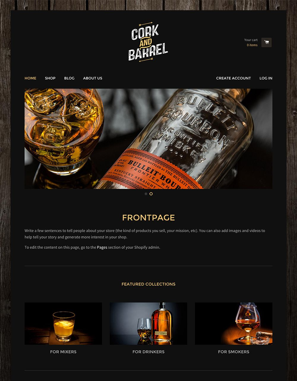 Oak Ecommerce Website Template - Free React Online Store Theme | Web