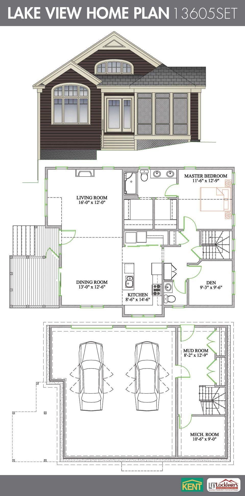 Lake View Home Plan Kent Building Supplies House Plans Bungalow House Plans Small Bathroom Plans