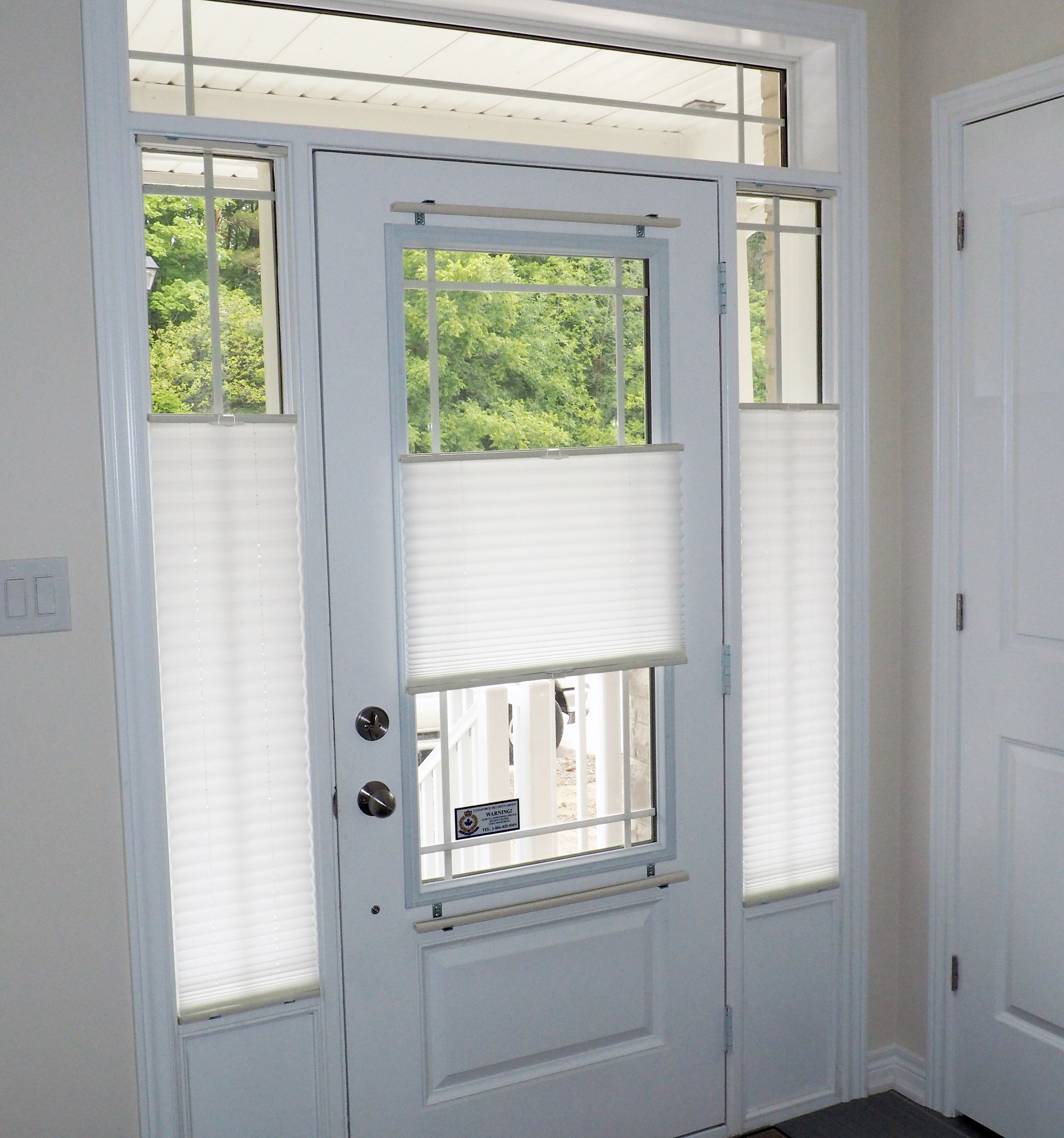 Pleated Shades Are An Economical Yet Highly Functional Window Covering Solution For Door Glass