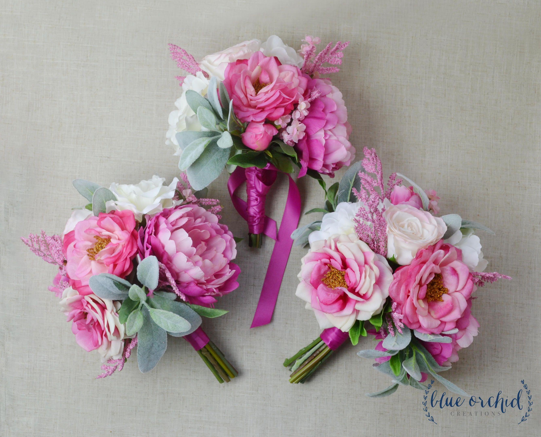 Bridesmaid Bouquet, Bouquet Set, Boho Bouquet, Pink Bouquet, Hot ...