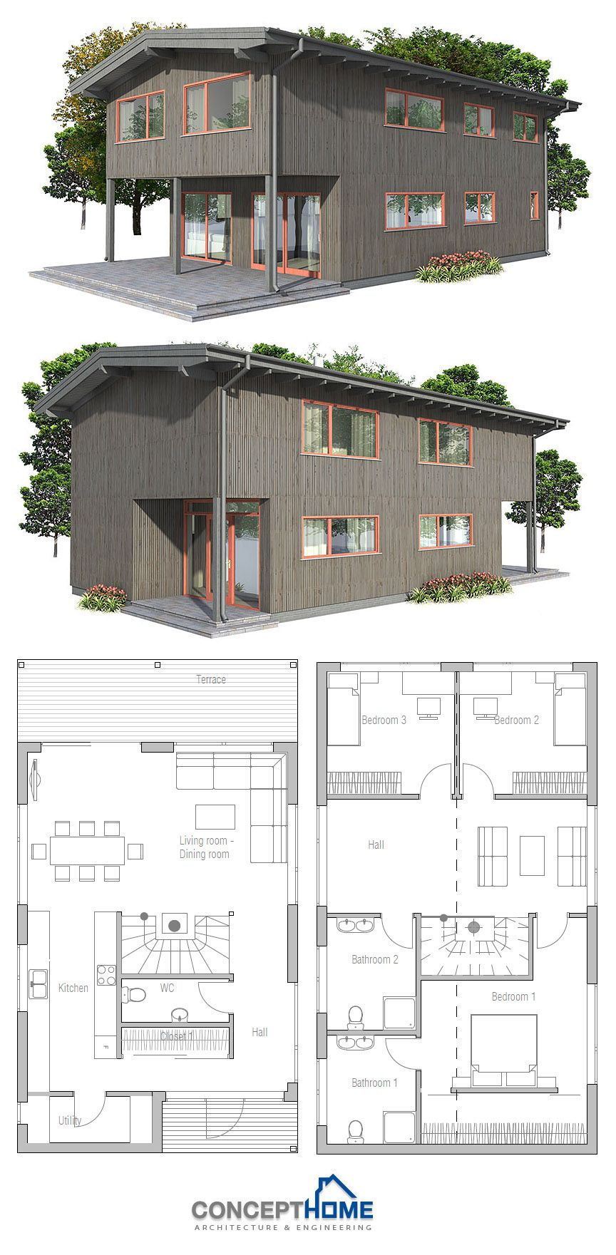 Small House Plan Affordable Home Smallhouse Smallhouseplans Homeplans House Plans Narrow House Plans Architecture House
