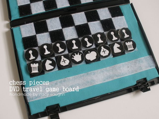 Diy Travel Chess Set Out Of Dvd Case Diy Chess Set Chess