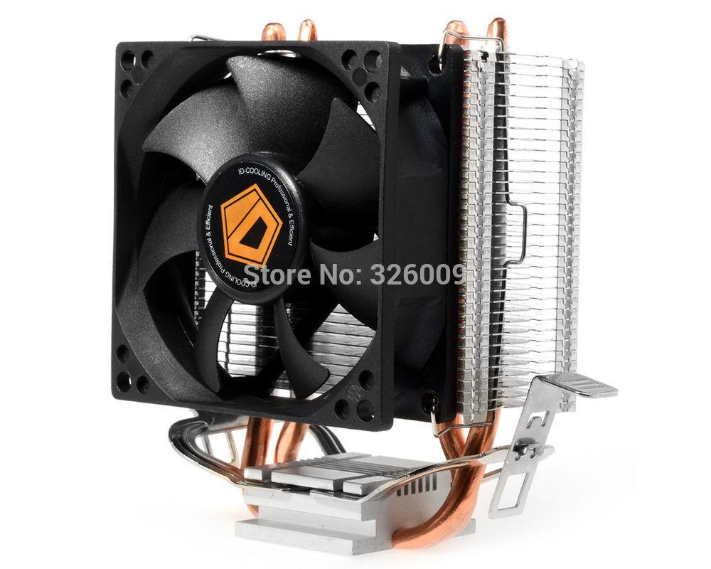 High Quality 80mm Fan 2 Heatpipe Tdp 95w For Intel Lga7755 1150 1151 Lga 1155 Original Cpu Cooler Id Cooling