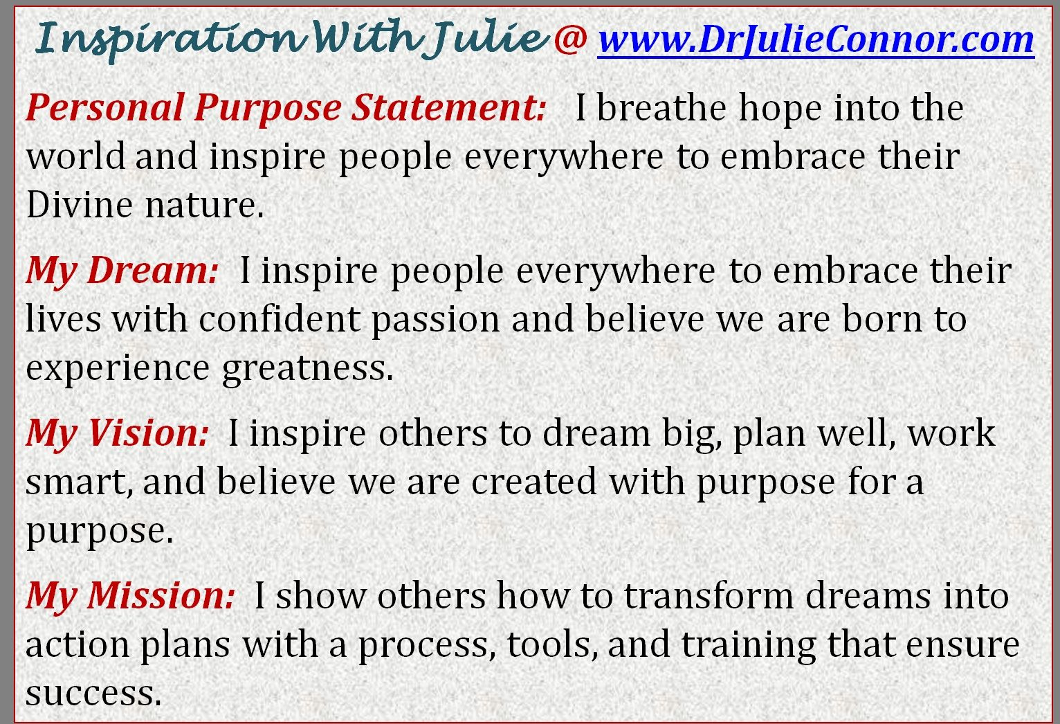what s your dream do you have a vision mission statement let s do you have a vision mission statement let s do it